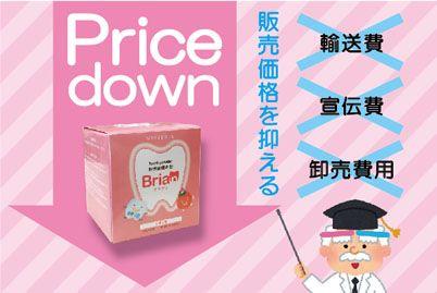 ブリアンの販売価格を抑える