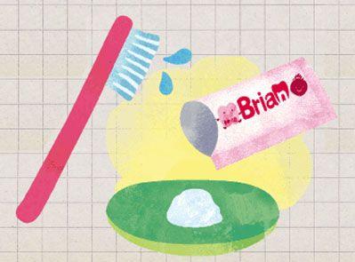 粉タイプの歯磨き粉ブリアンのイメージ